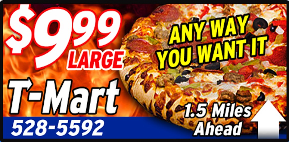 Large Anyway you want - $9.99